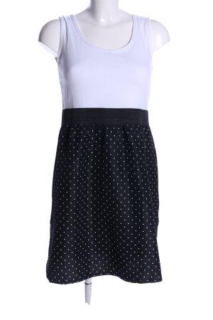 Janina A-Linien Kleid weiß-schwarz Punktemuster Casual-Look