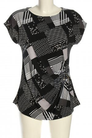 Janina Sleeveless Blouse black-light grey abstract pattern casual look