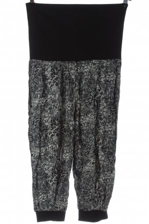 Janina Luźne spodnie czarny-jasnoszary Zwierzęcy wzór W stylu casual