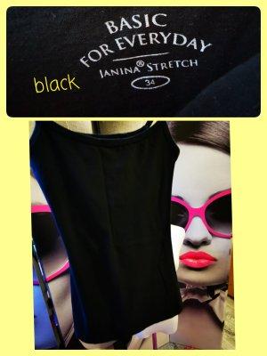 Janina ♥ Basic Top in schwarz Gr. 34 XS