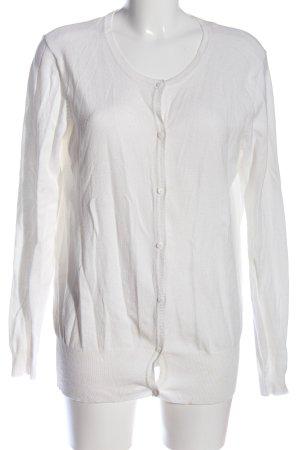 Janina Kardigan biały W stylu casual