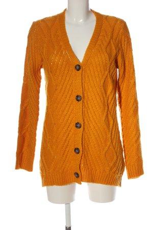 Janina Kardigan jasny pomarańczowy Warkoczowy wzór W stylu casual