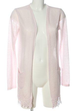 Janina Kardigan różowy Melanżowy W stylu casual