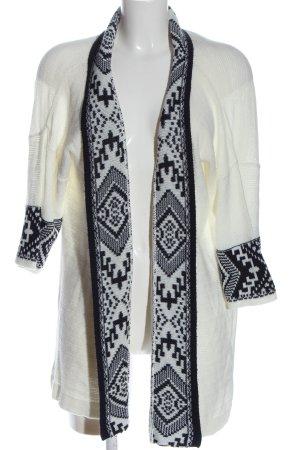 Janina Kardigan biały-czarny Graficzny wzór W stylu casual