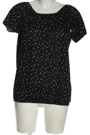 Janina Bluzka typu carmen czarny-biały Na całej powierzchni W stylu casual