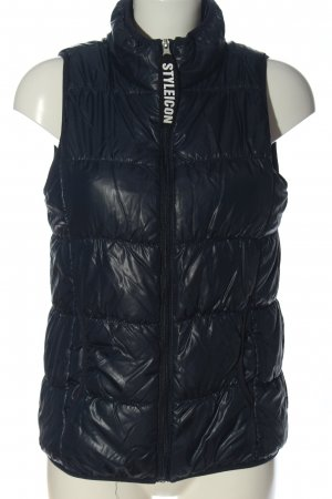 Janina Down Vest blue quilting pattern casual look