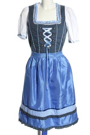 Janina Dirndl bleu-blanc motif à carreaux élégant