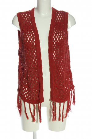 Janina Fringed Vest red casual look