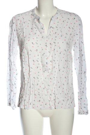 Janina Camicia blusa bianco stampa integrale stile casual