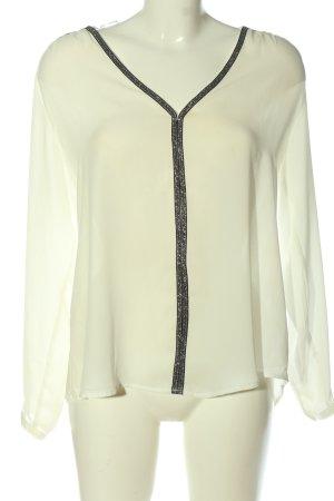 Janina Camicia blusa bianco sporco-nero con glitter