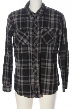 Janina Lumberjack Shirt black-light grey allover print casual look