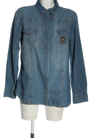 Janina Jeansowa koszula niebieski W stylu casual