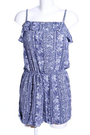 Janina Jumpsuit blau-weiß Allover-Druck Casual-Look