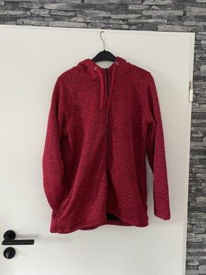 Janina Veste en fausse fourrure rouge foncé-gris anthracite polyester