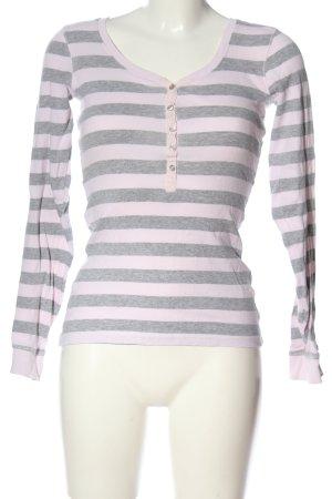 Janina Langarm-Bluse pink-hellgrau meliert Casual-Look
