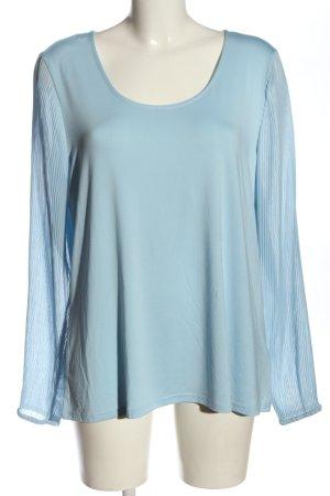 Janina Langarm-Bluse blau Elegant