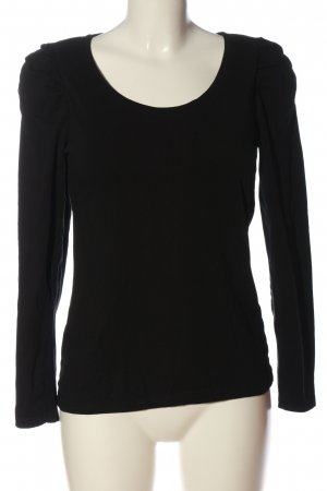 Janina Langarm-Bluse schwarz Casual-Look