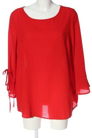 Janina Langarm-Bluse rot Casual-Look
