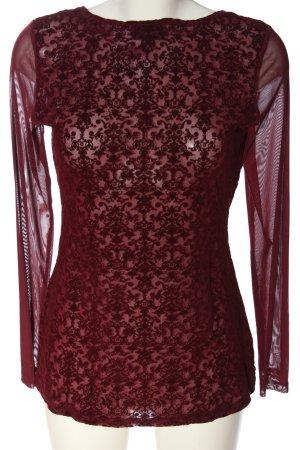 Janina Langarm-Bluse rot Elegant