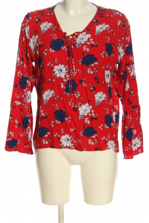 Janina Langarm-Bluse Allover-Druck Business-Look