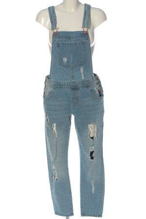 Janina Salopette en jeans bleu style décontracté