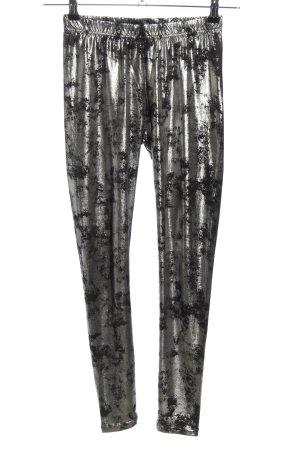 Janina Leggings silberfarben-schwarz Allover-Druck extravaganter Stil
