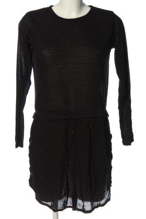 Janina Long-Bluse schwarz Casual-Look