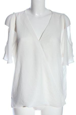 Janina Bluzka z falbankami w kolorze białej wełny W stylu casual