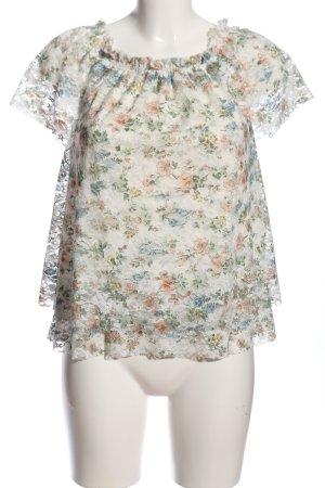 Janina Bluzka z falbankami kremowy-khaki Na całej powierzchni W stylu casual
