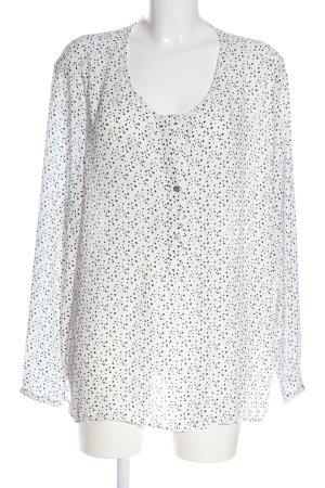 Janina Schlupf-Bluse weiß-schwarz Punktemuster Casual-Look