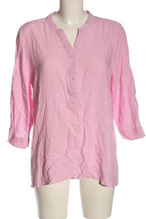 Janina Schlupf-Bluse pink-wollweiß Streifenmuster Casual-Look
