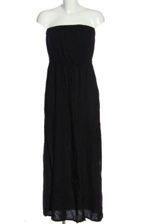 Janina schulterfreies Kleid schwarz Casual-Look