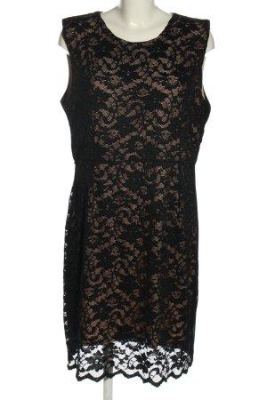 Janina Spitzenkleid schwarz-creme Blumenmuster Elegant