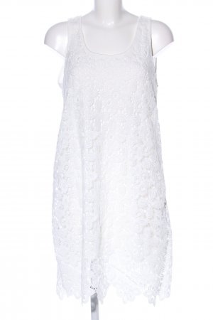 Janina Lace Dress white flower pattern casual look
