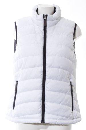 Janina Gilet matelassé blanc motif de courtepointe style décontracté