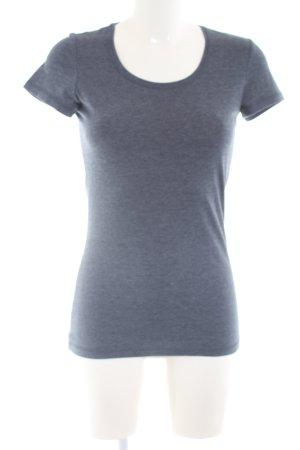 T-Shirt hellgrau meliert Casual-Look