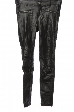Janina Stretch Trousers black wet-look