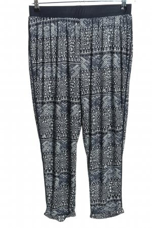 Janina Stretch Trousers black-white allover print casual look
