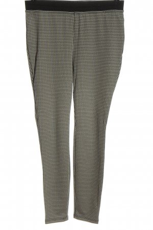 Janina Stretch Trousers black-white check pattern casual look