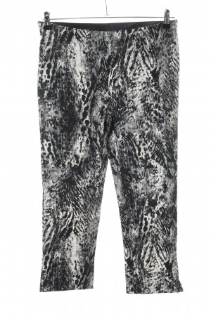 Janina Stretch Trousers black-white allover print extravagant style