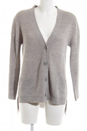 Janina Strick Cardigan hellgrau Casual-Look