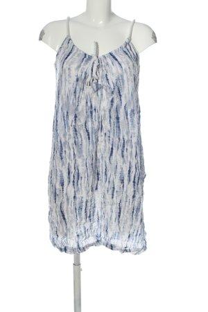 Janina Trägerkleid weiß-blau abstraktes Muster Casual-Look