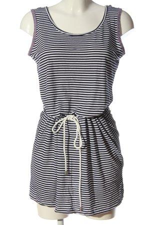 Janina Trägerkleid schwarz-weiß Streifenmuster Casual-Look