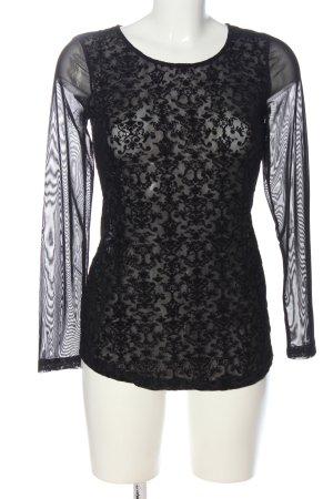 Janina Transparenz-Bluse schwarz Elegant