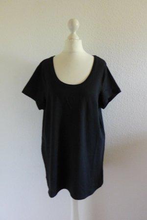 Janina Wear Basic T-Shirt Kurzarm schwarz Gr. 48 XXL