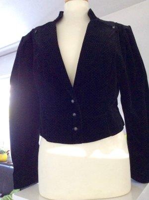 Tradycyjna kurtka czarny-biały Tkanina z mieszanych włókien