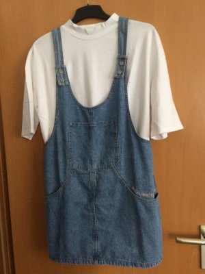 Pull & Bear Pinafore Overall Skirt azure cotton