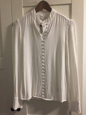 Japanisches Hemd, weiß, Stehkragen (Gr. S)