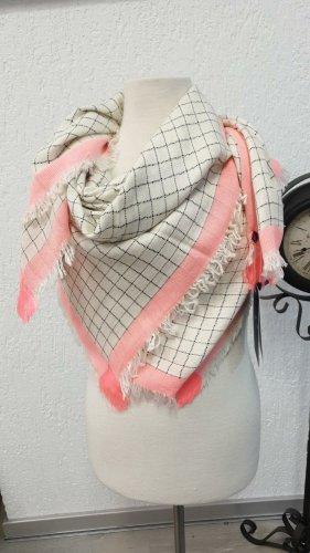 Jaquard Schals Tuch 100 cm x 100 cm Baumwolle