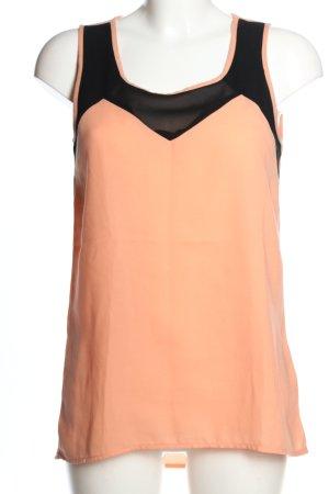 Jaqueline de Yong Blusa sin mangas naranja claro-negro look casual